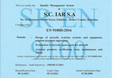 Certificat EN 9100D 2016 - en