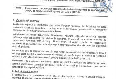 Memorandum-Centru de mentenanta IAR SA0001
